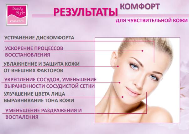 Успокаивающая маска «Комфорт» с увлажняющим эффектом Beauty Style