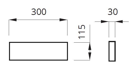 Размеры кронштейна для установки светильника