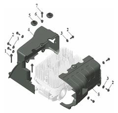 Система воздушного охлаждения двигателя снегохода Stels GAOKIN GK2E74QM (565см3)