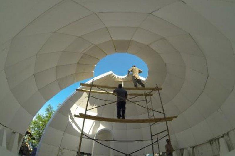 Возведение купольного дома