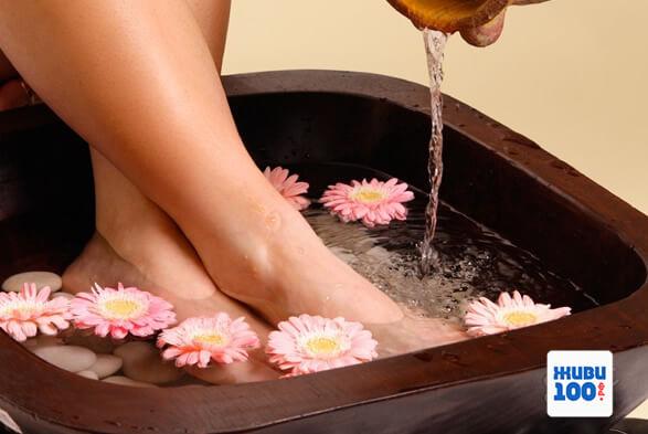 Ванночка для ног с солью для ножных ванн Just