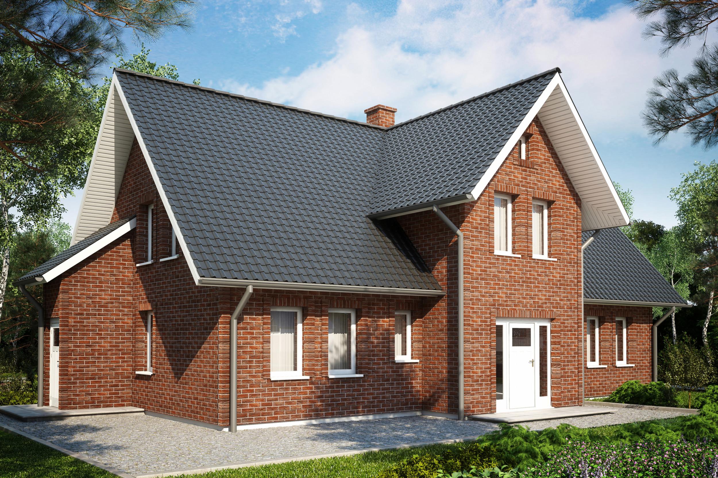 Фасадные панели пример отделки дома