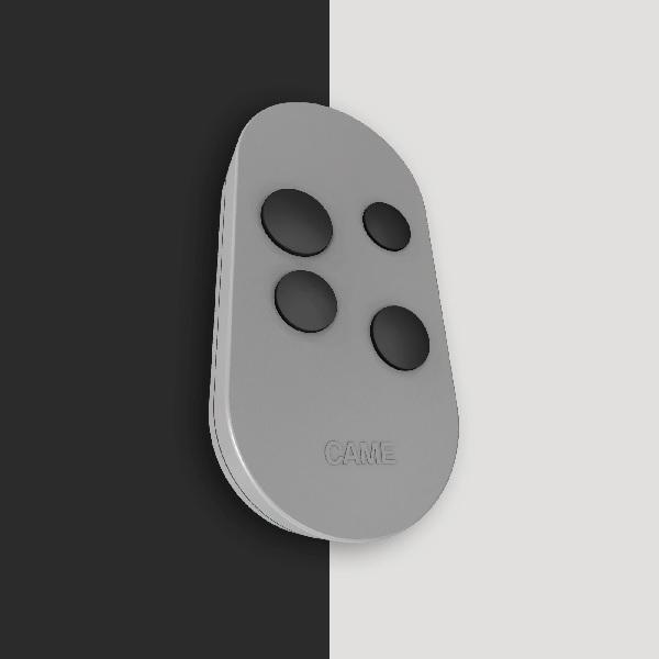 Новый пульт дистанционного управления TOP44RGR – это 4–канальный брелок-передатчик в современном и функциональном дизайне и возможностью работы на частоте 433,92 МГц.  Брелок в сером цвете использует динамический код для