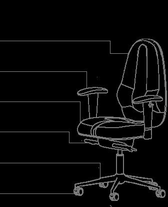 Функционал кресла KULIK SYSTEM CLASSIC MAXI  без подголовника