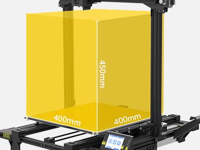 Главное преимущество Anycubic Chiron — очень большая область построения 400x400x450 мм, что позволяет печатать довольно габаритные модели целиком.