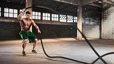 Фото упражнение с канатом для кроссфит