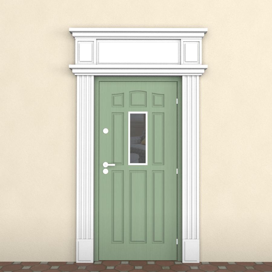 Дверной наличник, пенопласт.