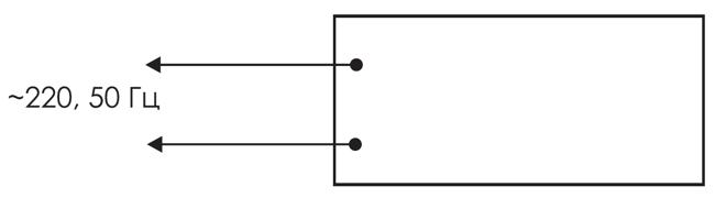 Схема подключения для двухстороннего светового табло 220В КРИСТАЛЛ-220-Д