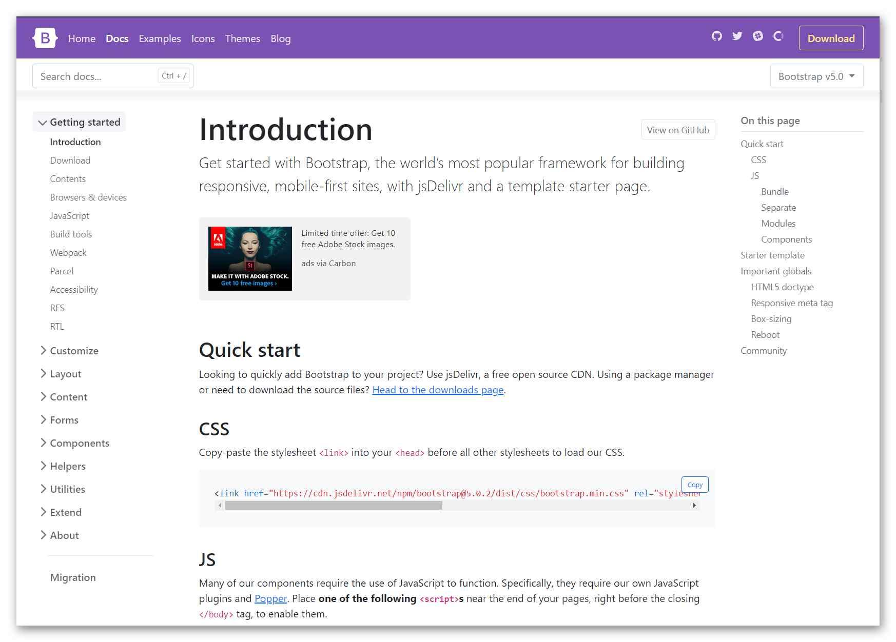 Официальная документация Bootstrap