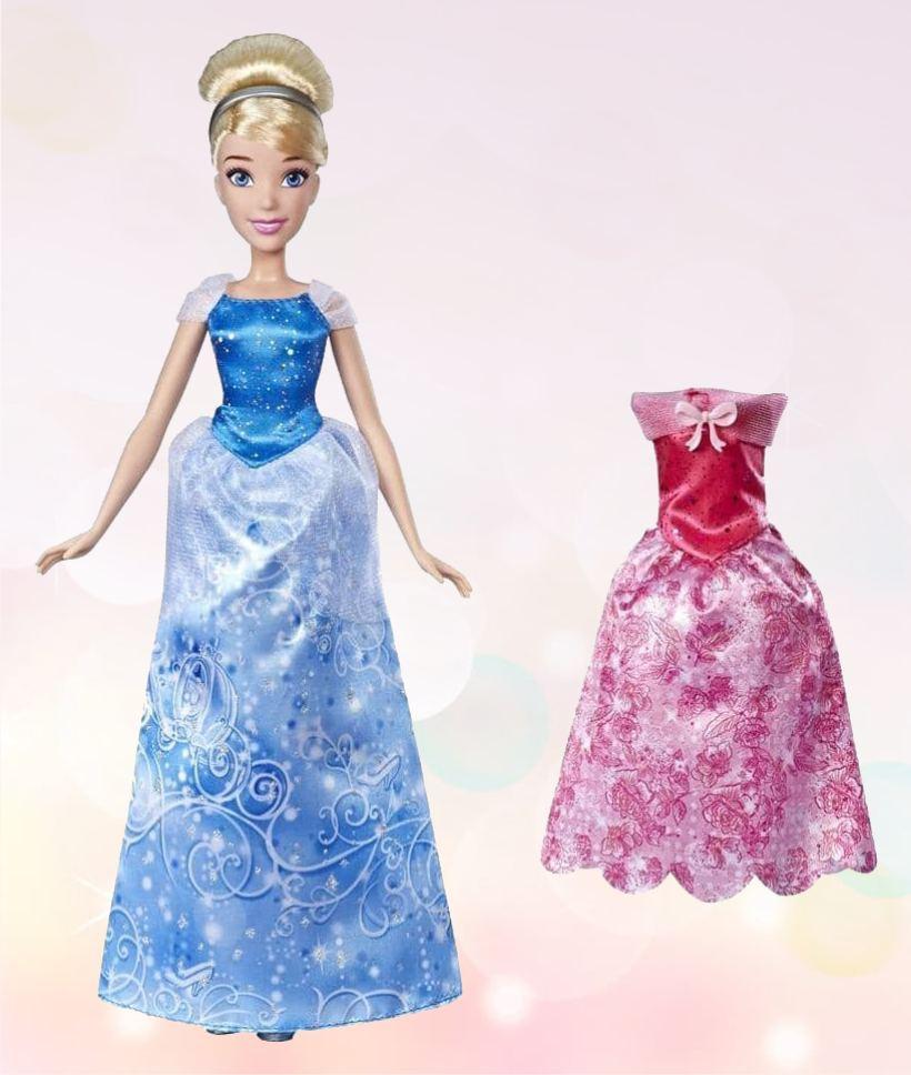 Кукла Золушка с нарядами в комплекте