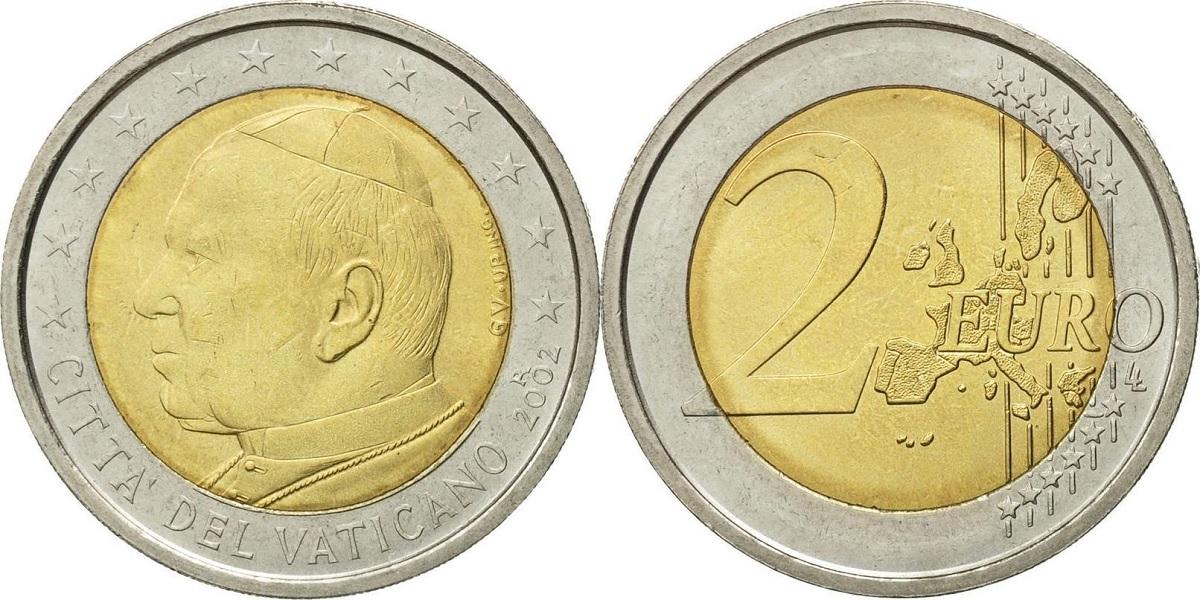 2 евро Ватикана 2002