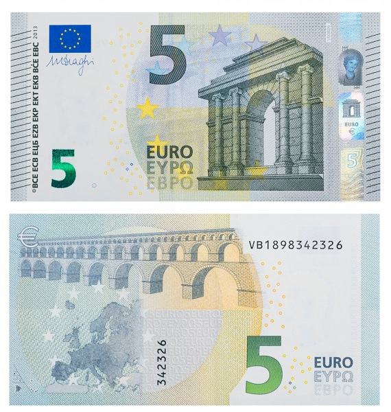 Купюра 5 евро