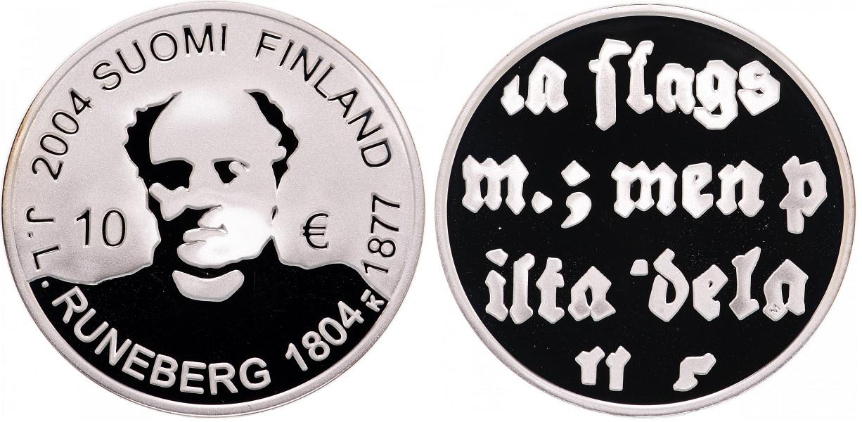 10 евро 200 лет со дня рождения Йохана Рунеберга 2004