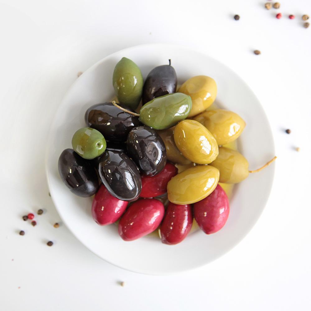 Цветные оливки