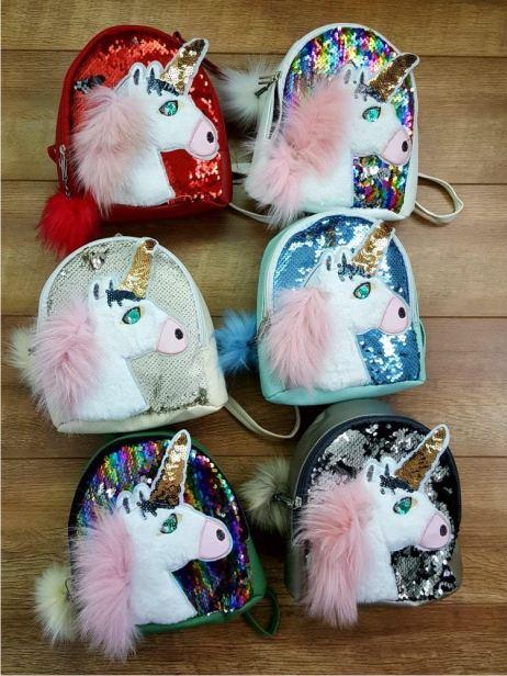 Детский рюкзак Единорог с пайетками