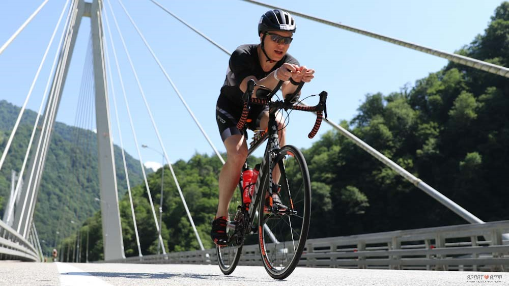 велосипедный этап триатлона