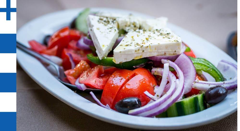 Греческий салат Horiatiki с маслом Extra Virgin