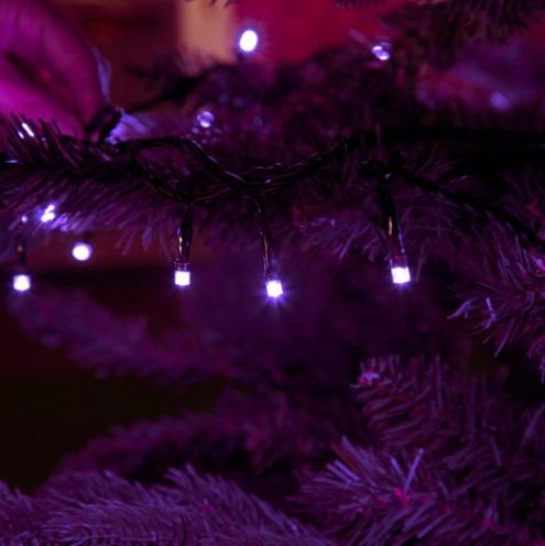Фиолетовая нить гирлянда 5 метров  led