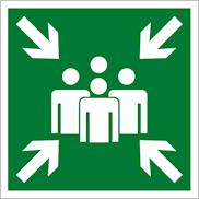 Эвакуационные знаки безопасности Е21 Пункт (место) сбора