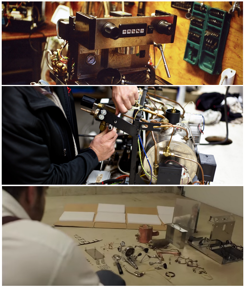 фото до и после ремонта кофемашины Caffitaly