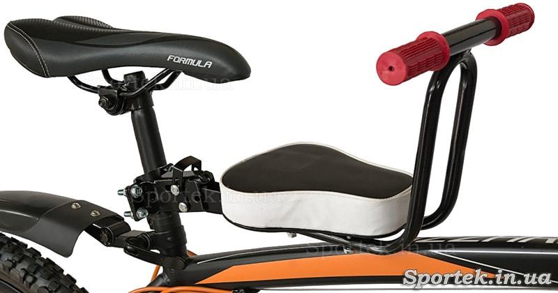 Детское велокресло для малыша спереди на подседельный штырь
