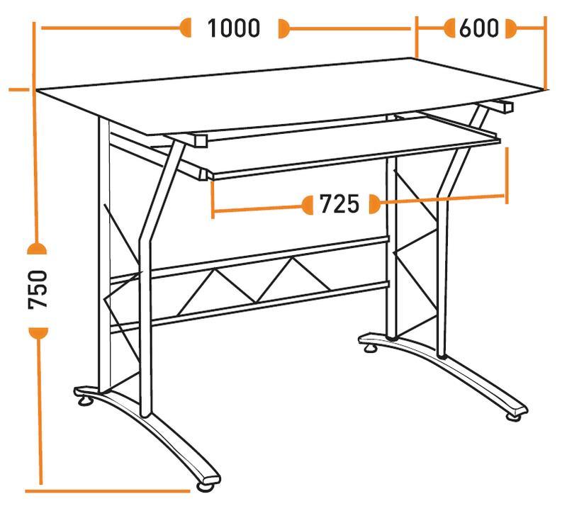 Размеры компьютерного стола ST-F1018