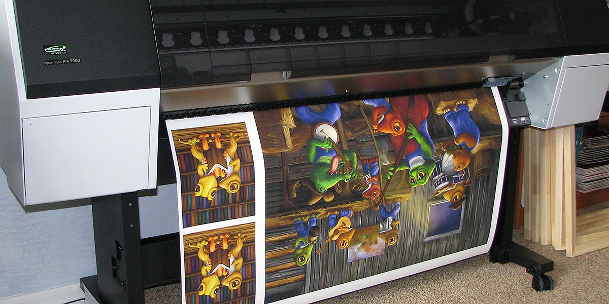Печать изображений на холсте