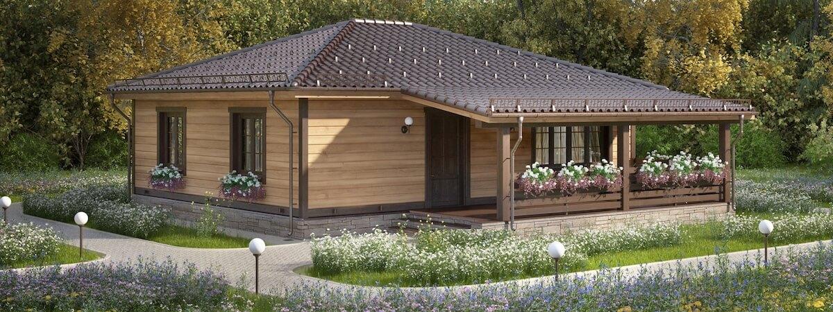 Одноэтажный дом «Альфа» с террасой - 1 100 000 руб