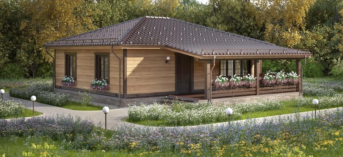 Дом «Альфа» с террасой - 1 100 000 руб