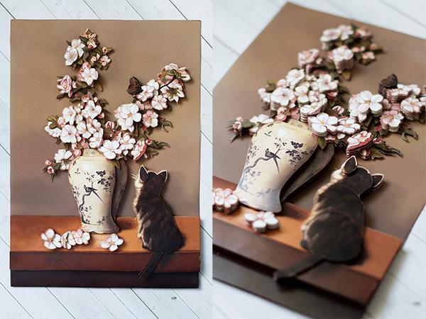 Главное фото статьи как сделать папертоль. На фото сюжет — Котенок и весна