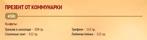 "Новогодний подарок ""Презент от Коммунарки"" 450г Коммунарка"