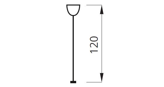 Длина тросового подвеса для светильника