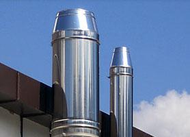 Модульные стальные одноконтурные дымоходы