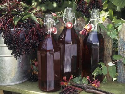 Вино в стекляных бутылках
