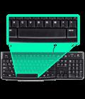 Изогнутая клавиша пробела