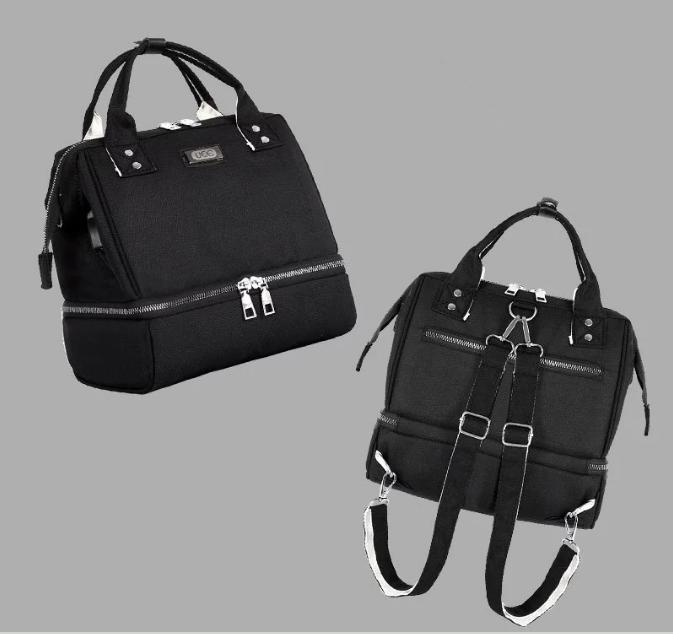 "Сумка-рюкзак для мамы 2в1  ""Black""  BABUTKA"
