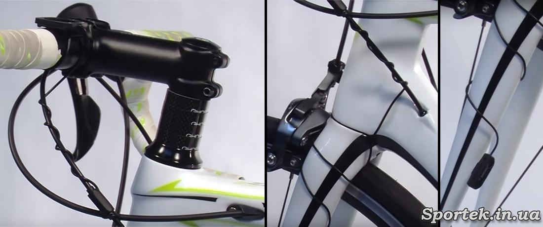 Как прокладывать провод на велокомпьютер