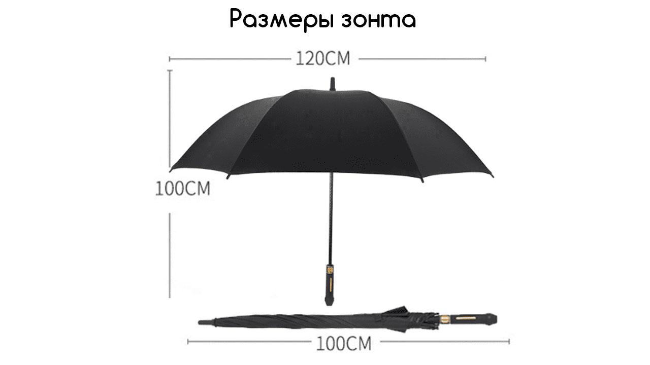 Классический зонт трость полуавтомат красный | Guattro design