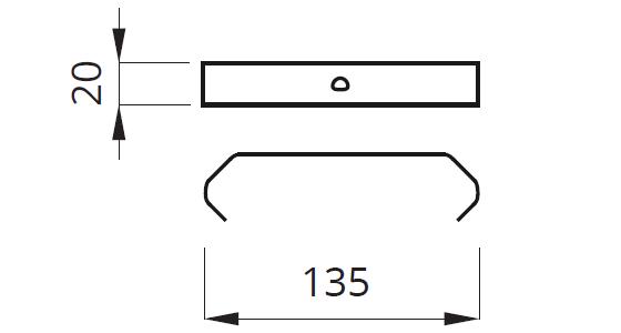 Размер зажимов под штукатурку для монтажа встраиваемых светильников