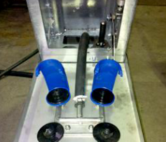 Функция автоматического открытия и закрытия кронштейна для моющего оборудования для доильной Карусели
