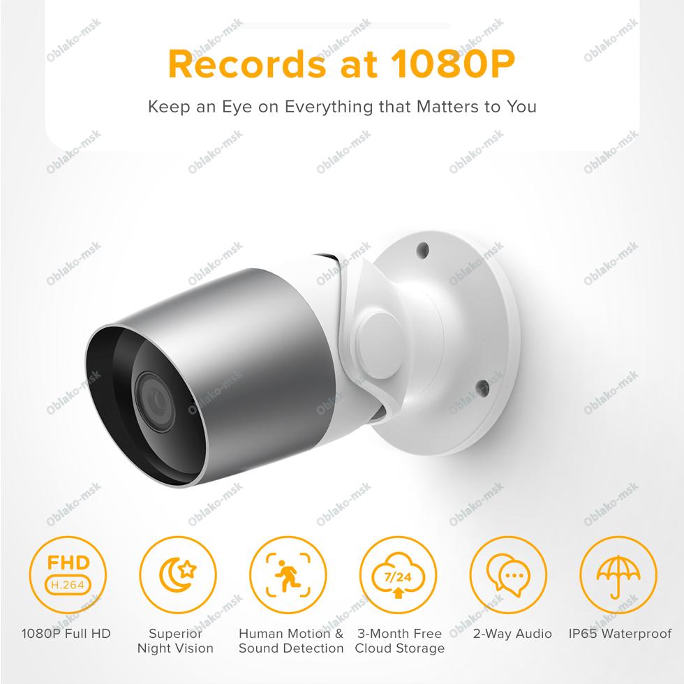 IP-видеокамера Laxihub O1-TY Bullet 2S Outdoor Camera Wi-Fi 1080P с картой microSD уличная RU EAC
