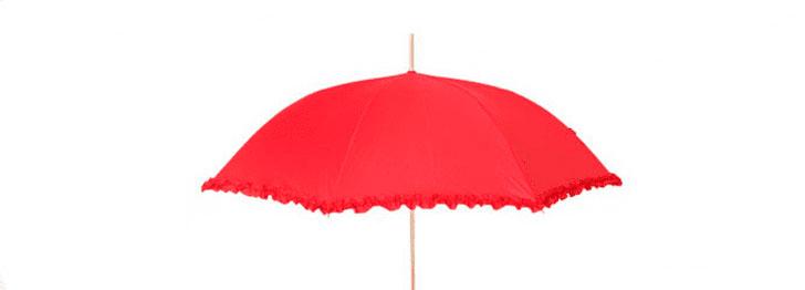 Красный дизайнерский зонт | ZC Wedding