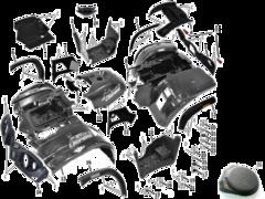 Пластик, щитки, облицовка Стелс Леопард