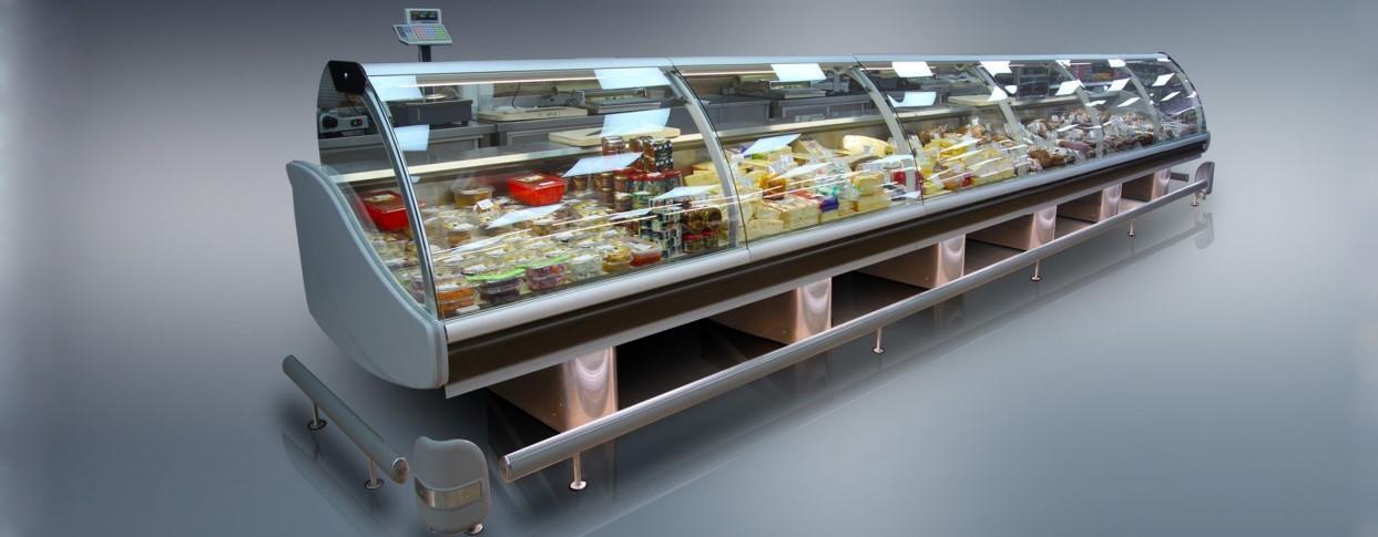 Габаритные размеры холодильных витрин