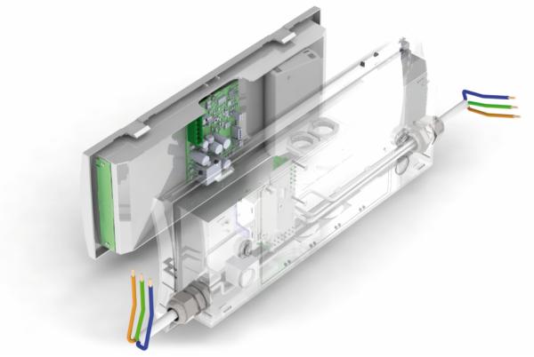 Схема расположения сквозной проводки аварийного светильника для низких температур Formula 65 LED Extreme