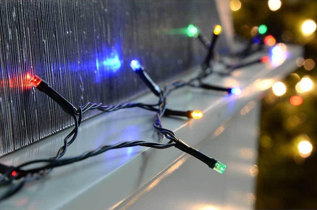 Гирлянда нить 10 метров 100 led светодиодов уличная