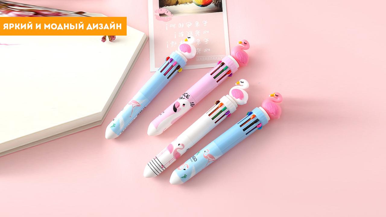 """Ручка """"фламинго белая"""""""