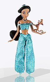 Кукла Жасмин с питомцем обезьянкой Абу