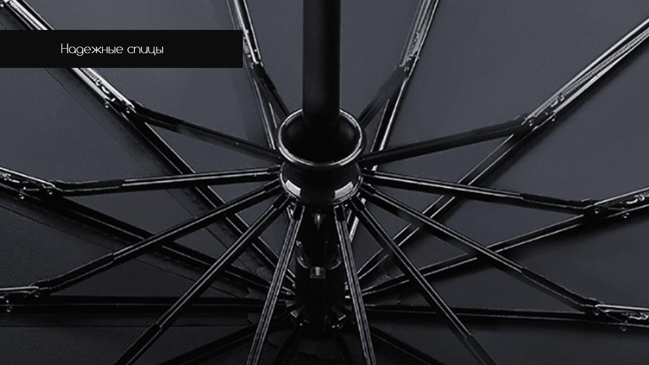 Представительский складной зонт серый  | ZC Apolo Premium