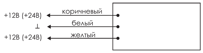 Схема подключения для двухстороннего динамического табло «стрелка» КРИСТАЛЛ-12 ДИН1/ДИН2 Д и КРИСТАЛЛ-24 ДИН1/ДИН2 Д